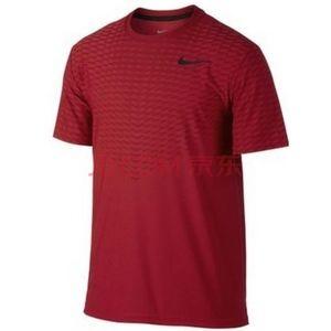 Men's Nike Training Red Zonal Cooling Short Sleeve